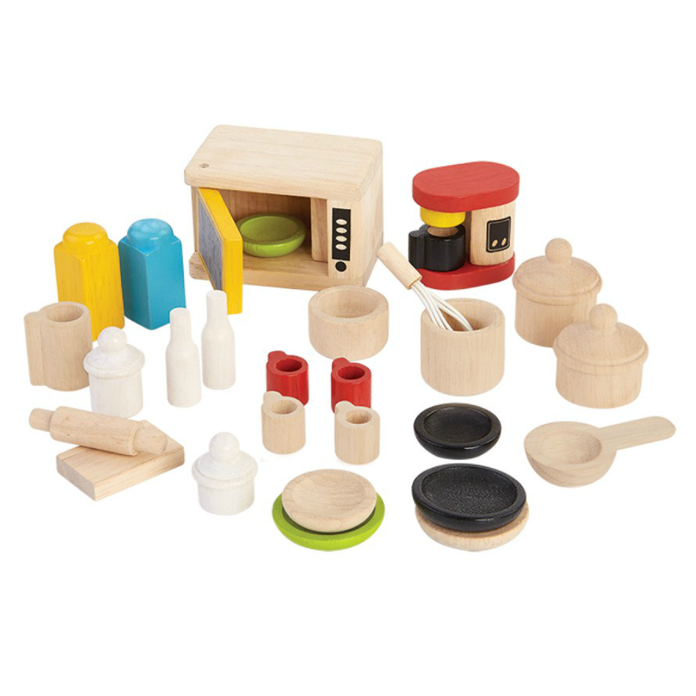 Plan Toys Dollhouse Kitchenware Set