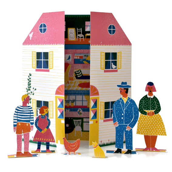 Little Paper Doll House