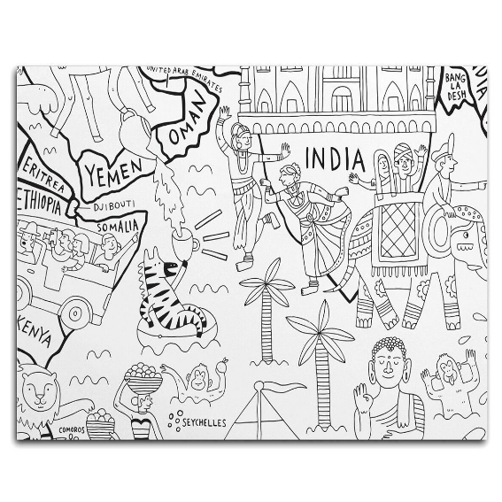 Pirasta Lets Color the World Coloring Sheets