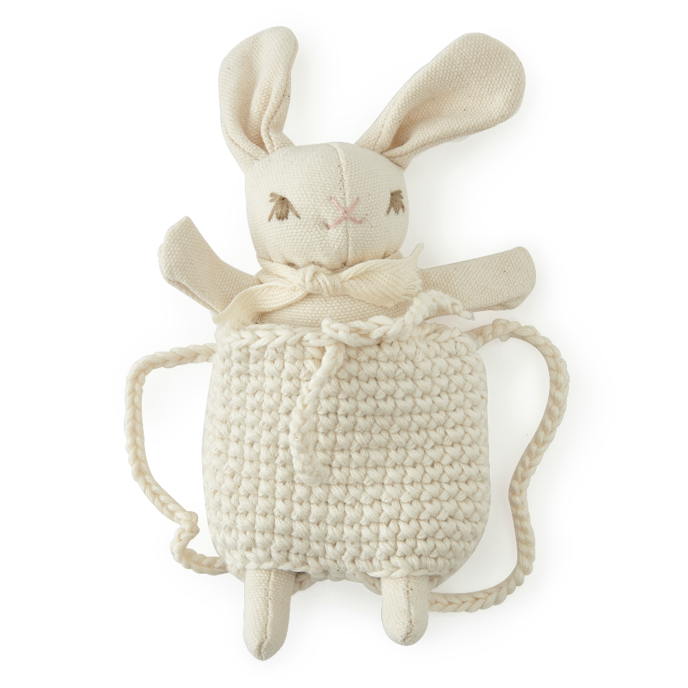Polka Dot Club Baby Rabbit with Backpack