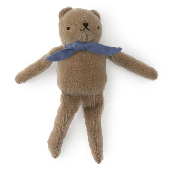 Polka Dot Club Taupe Floppy Bear