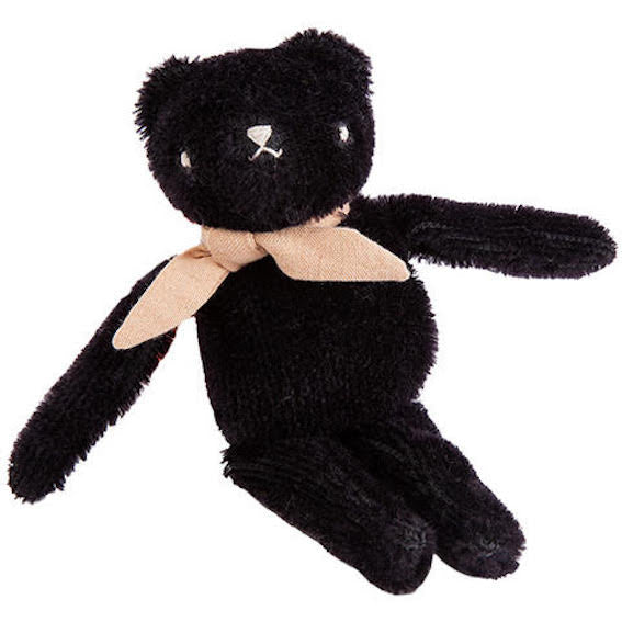 Polka Dot Club Black Floppy Bear