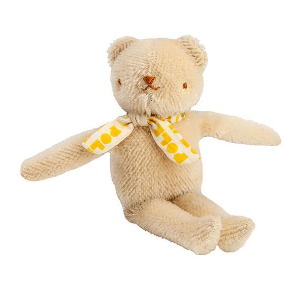 Polka Dot Club Cream Floppy Bear