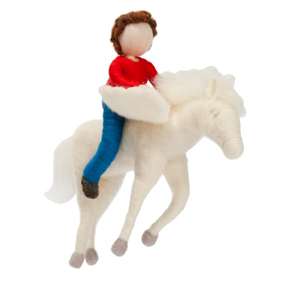 The Boy and the Pegasus Felted Mobile