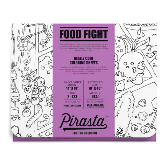 Pirasta Food Fight Coloring Sheets