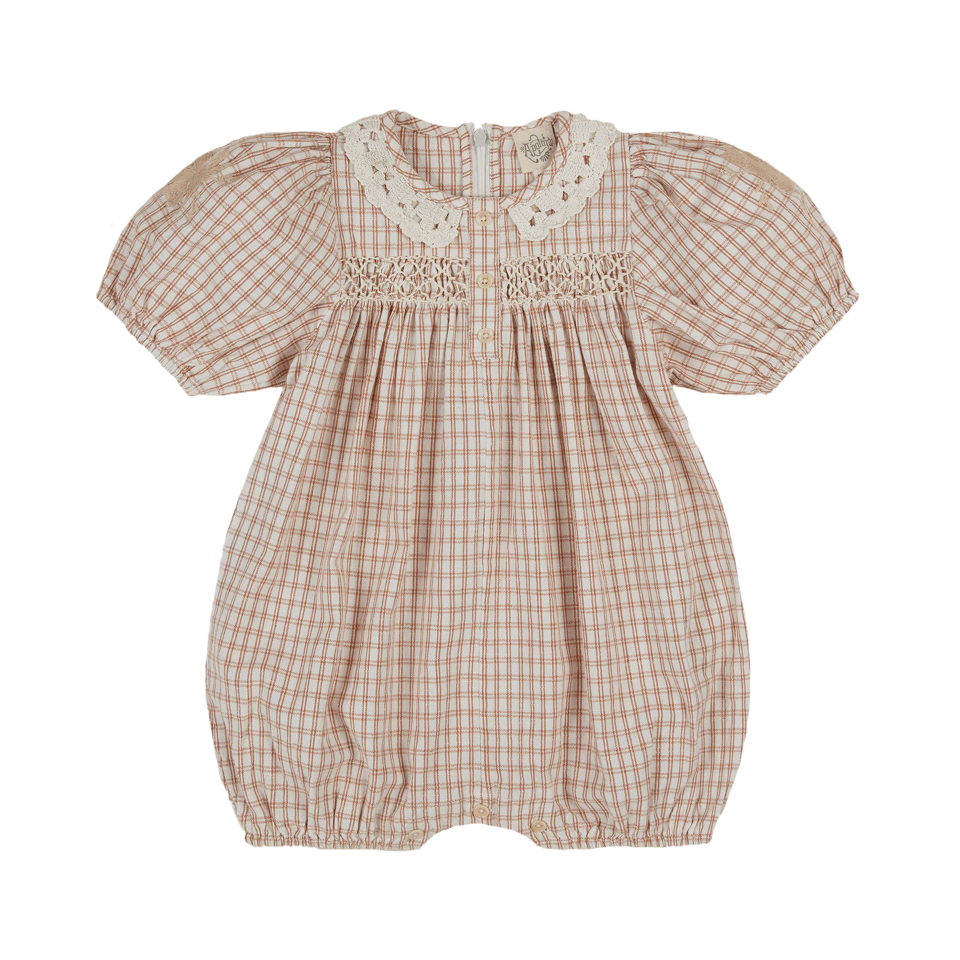 Apolina Picnic Check Baby Molly Romper