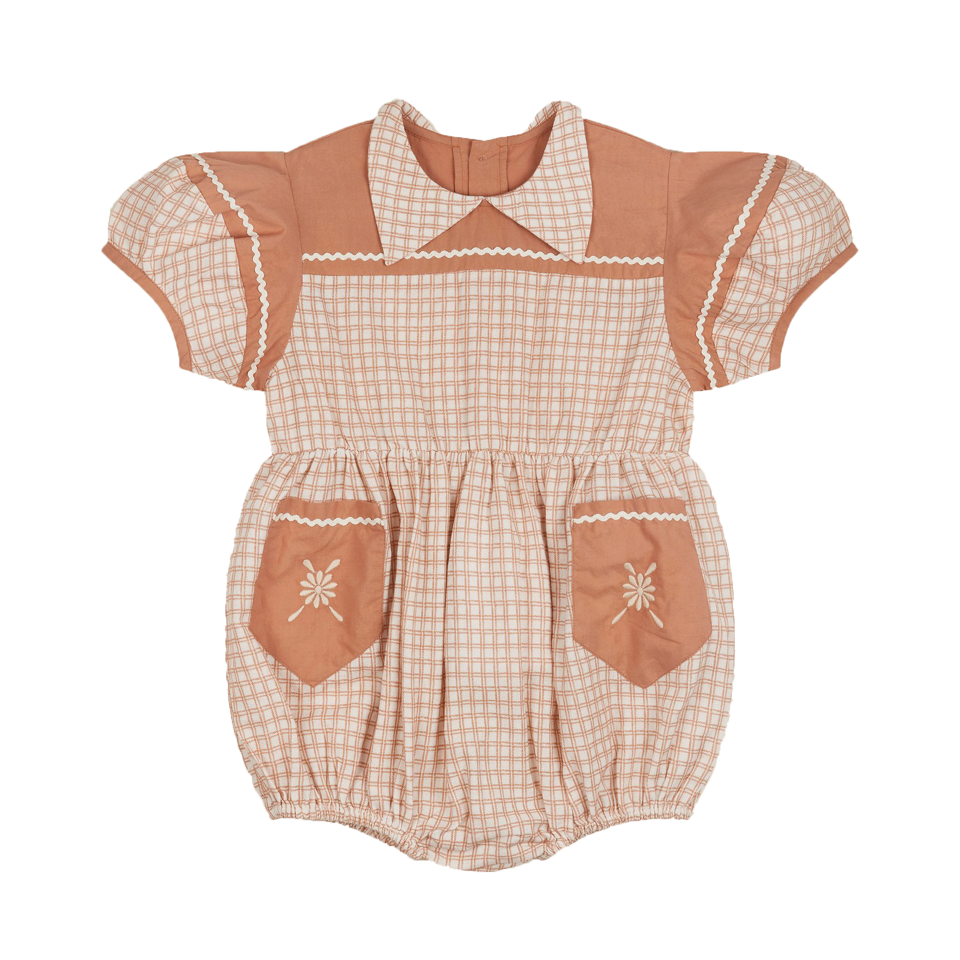 Apolina Picnic Check Nellie Playsuit
