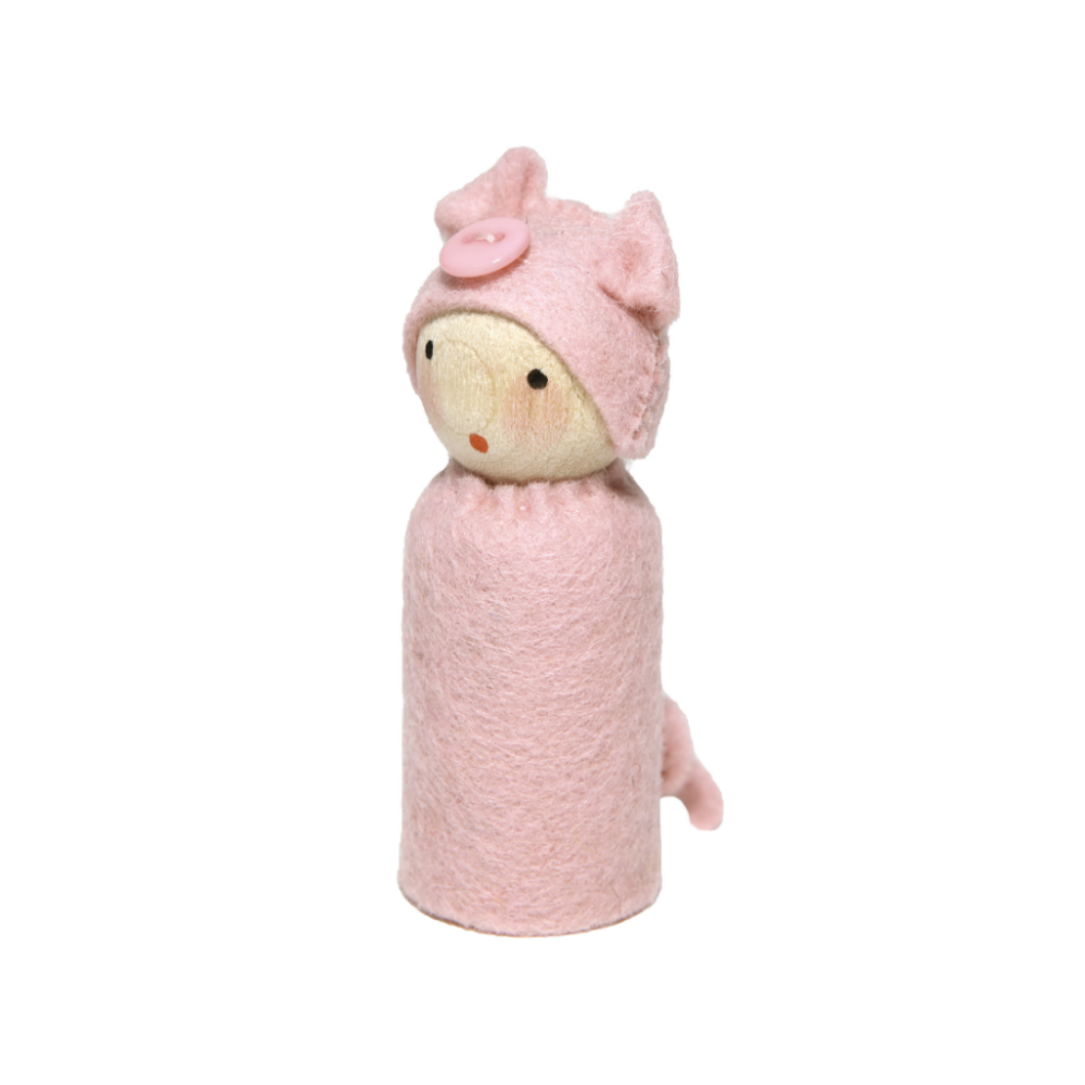 Peg Doll in Pig Costume