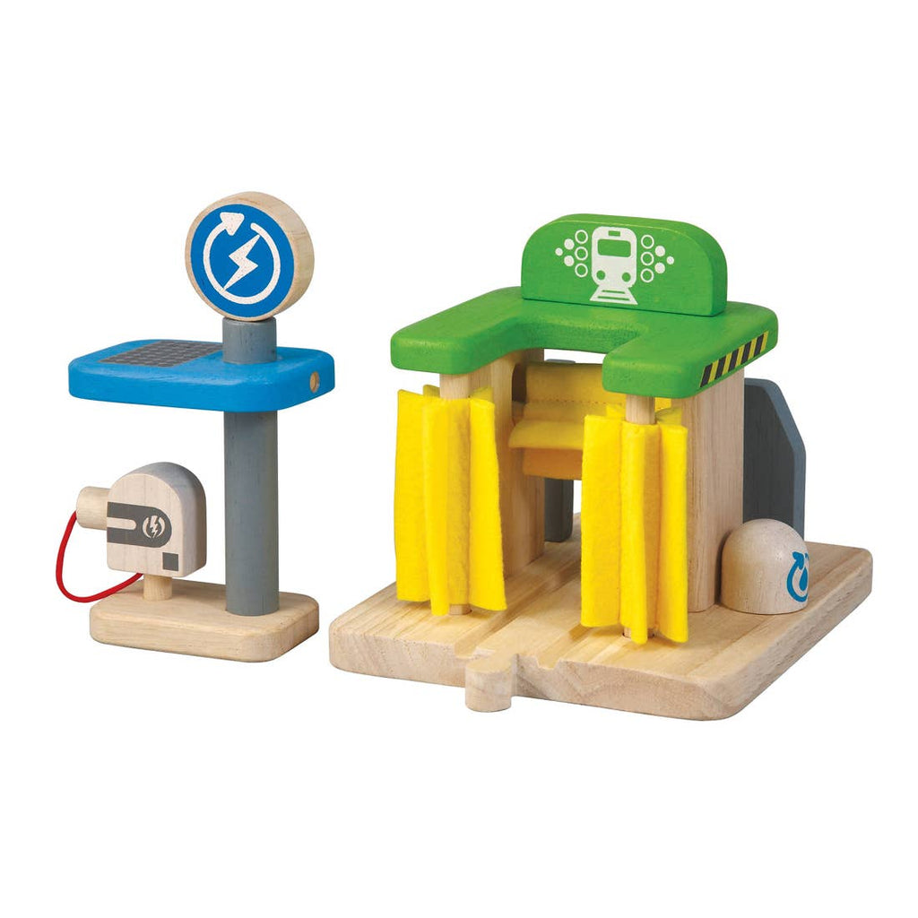 Plan Toys Car Wash and Charging Station