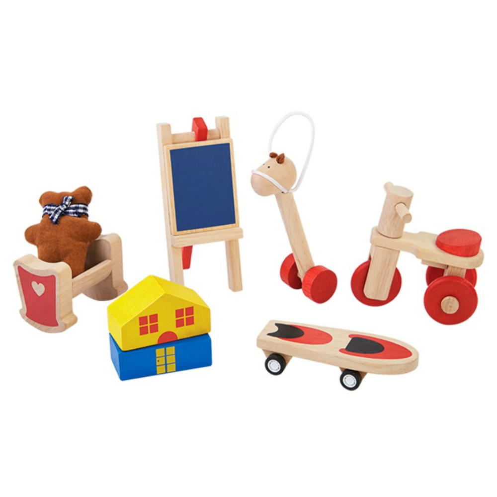 Plan Toys Dollhouse Playroom Set
