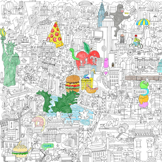 Pirasta Really Big Coloring Poster: The Big Apple