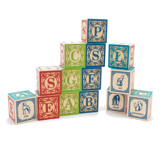 Uncle Goose Polish Alphabet Blocks