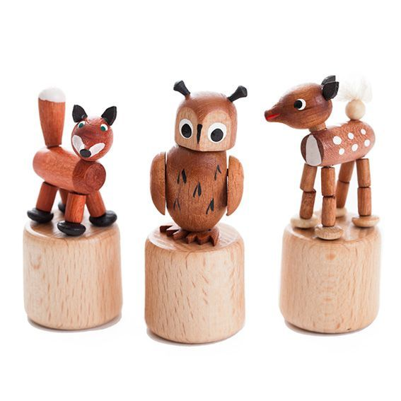 Wooden Pop Up Animal Set