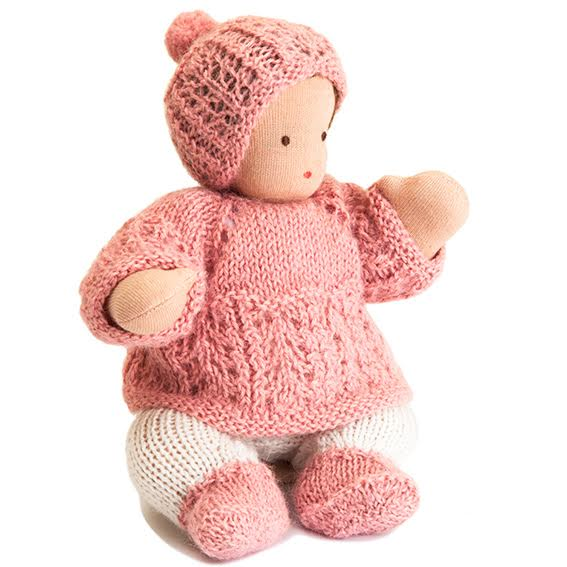 Waldorf Bendable Light Skin Baby Doll · Pink Outfit