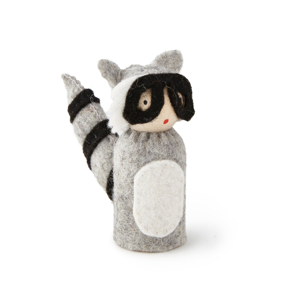 Peg Doll in Raccoon Costume