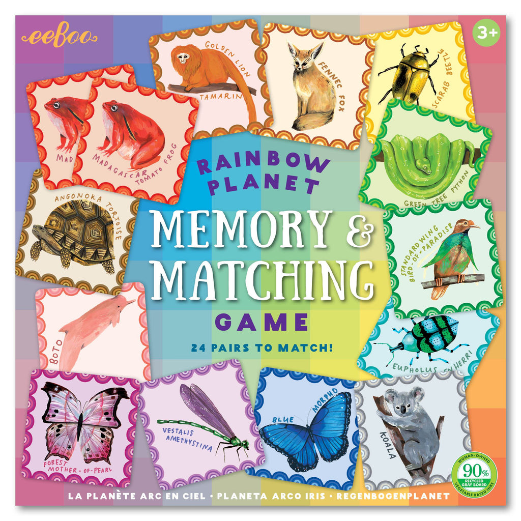 Eeboo Rainbow Planet Memory and Matching Game