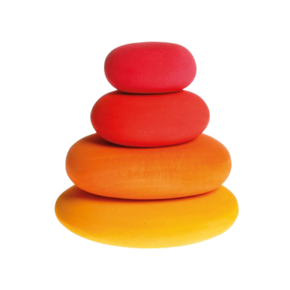 Grimm's Red Stacking Pebbles Set