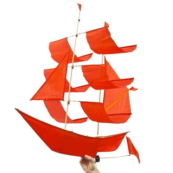 Orange Flame Ship Kite