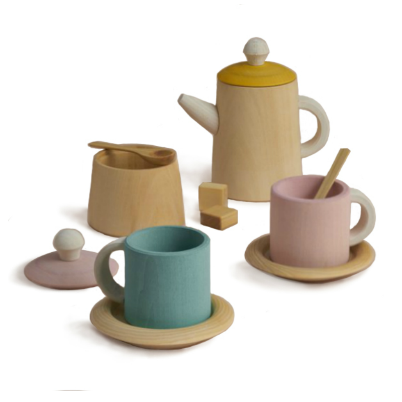 Raduga Grez Mustard and Pink Tea Set