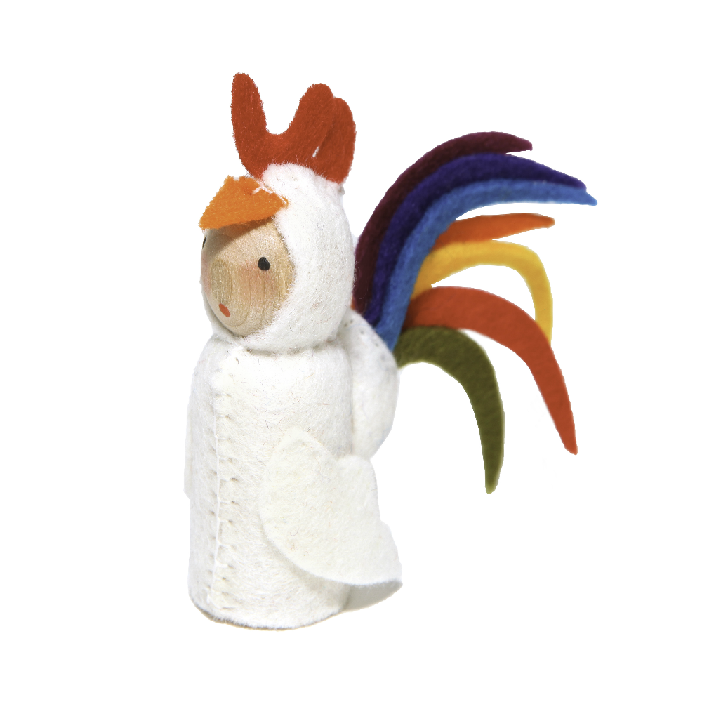 Peg Doll in Rooster Costume
