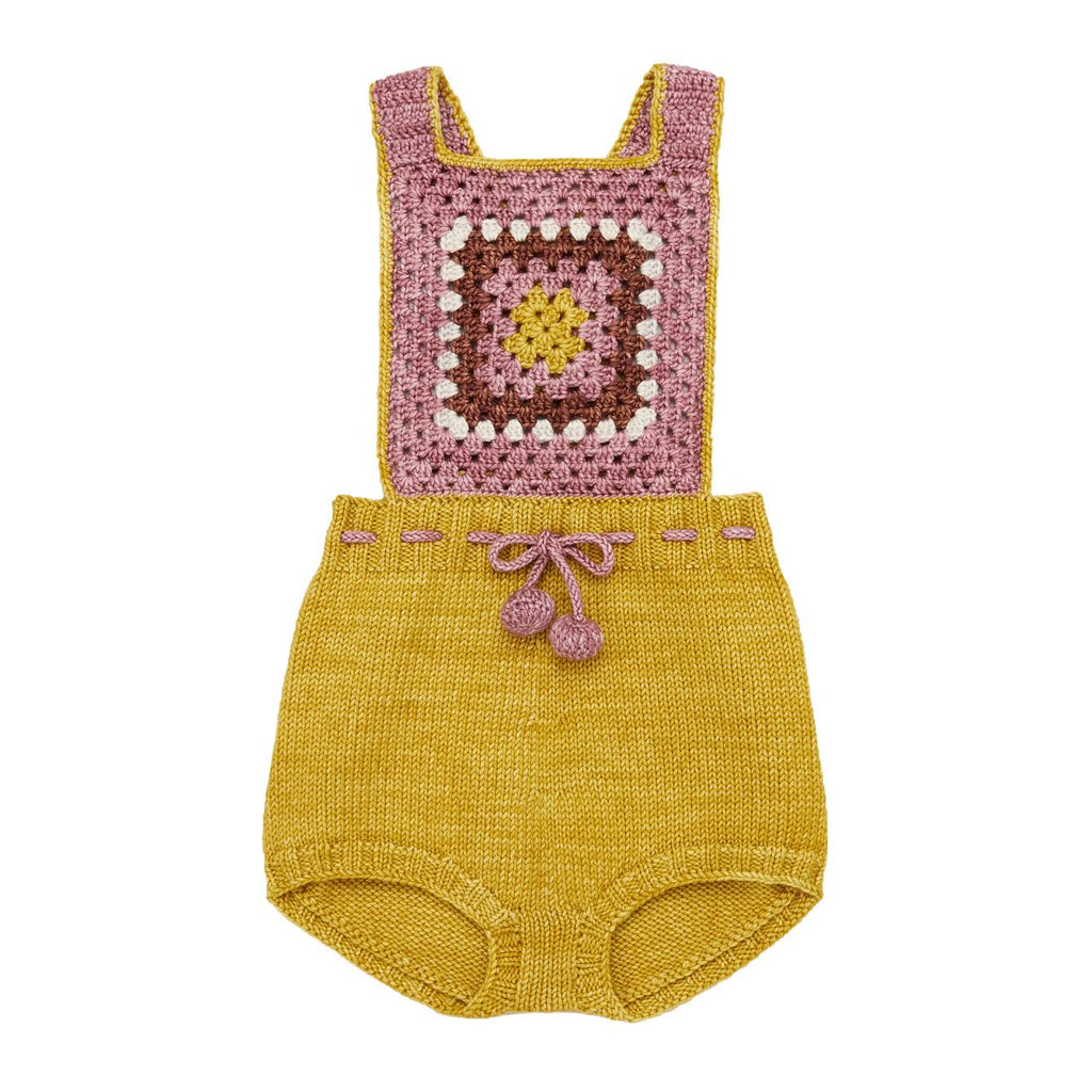 Misha and Puff Antique Rose Lake House Romper