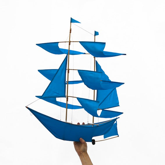 Blue Ship Kite