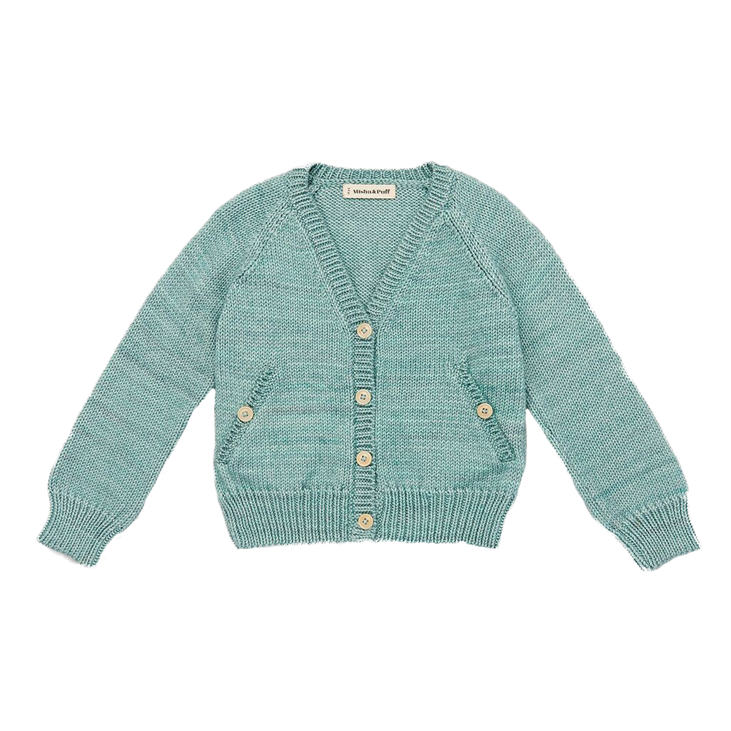 Misha and Puff Sage Blue Everyday Cardigan