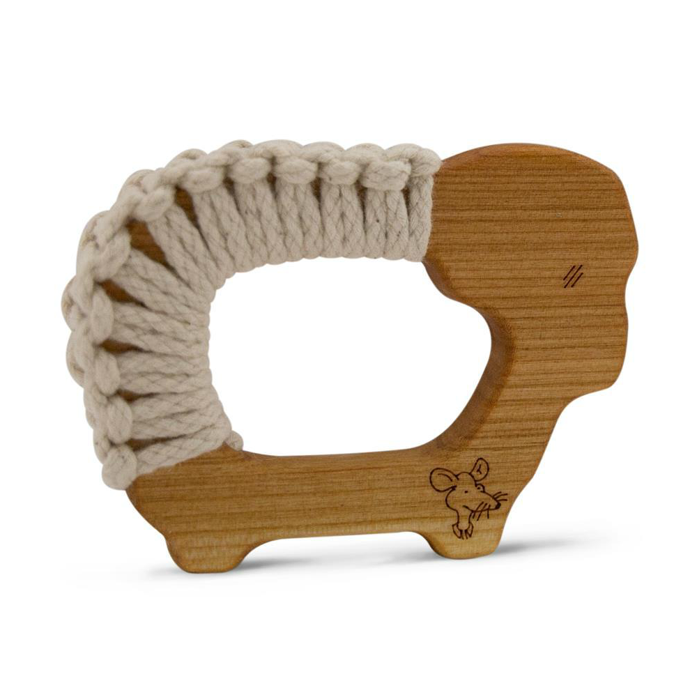 Senger Wooden Sheep Yarn Teether