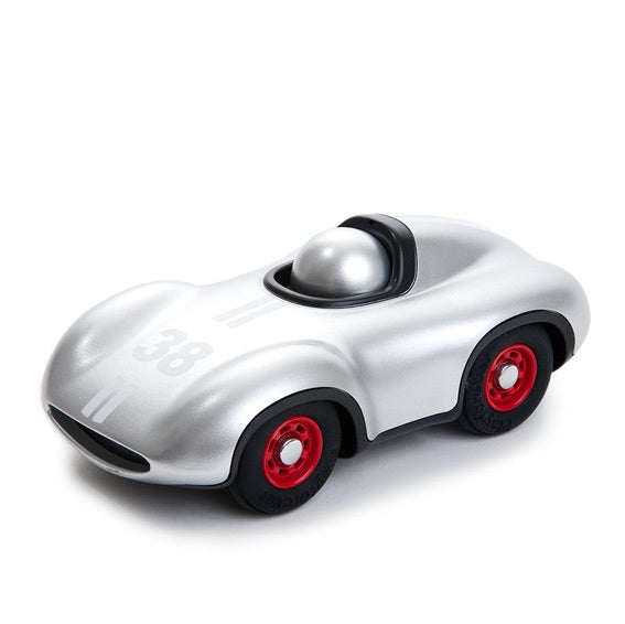 Playforever Silver Mini Speedy Race Car
