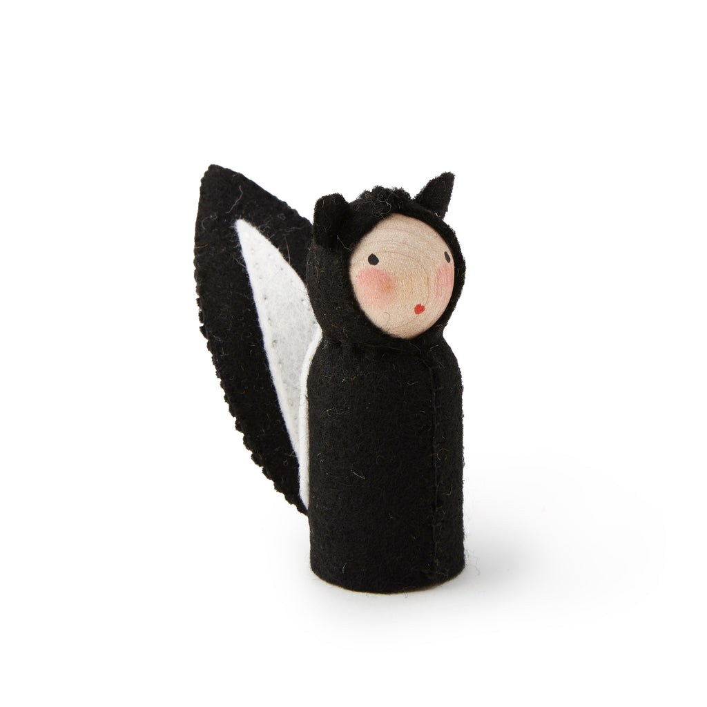 Peg Doll in Skunk Costume