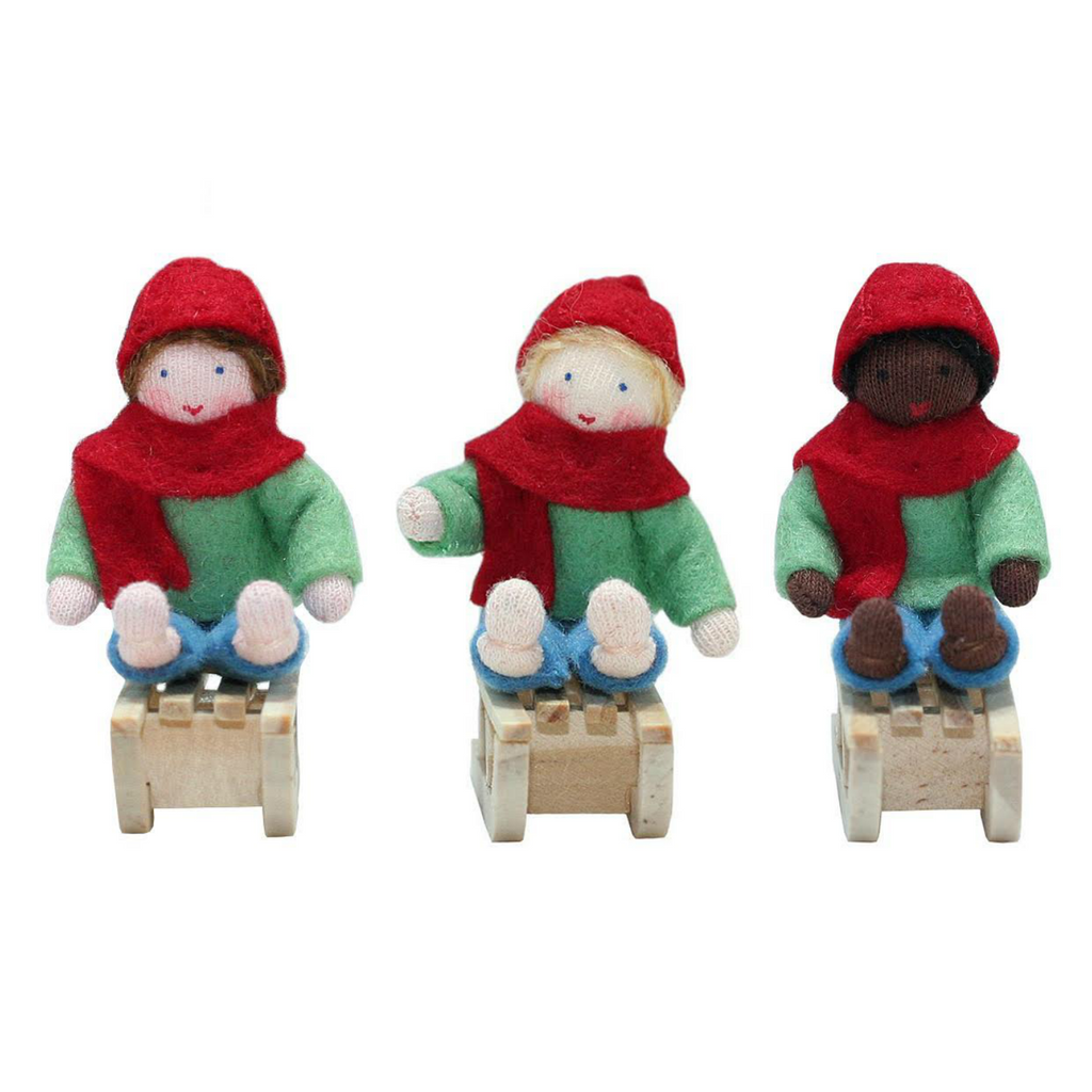 Sleigh Boys Ornaments