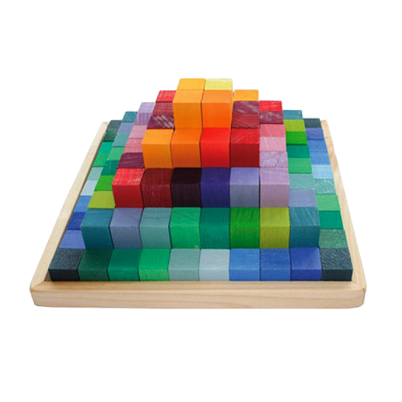 Small Stepped Pyramid Block Set