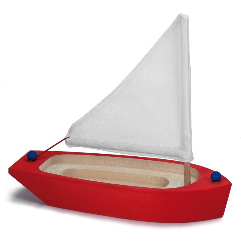 Small Red Sailboat