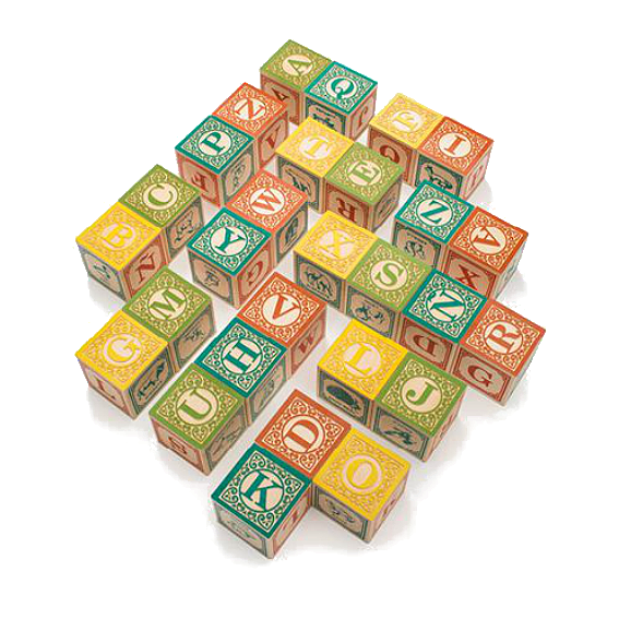 Uncle Goose Spanish Alphabet Blocks