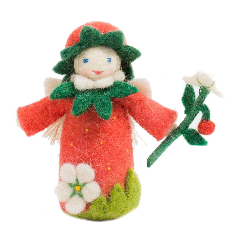 Felt Strawberry Fairy Ornament