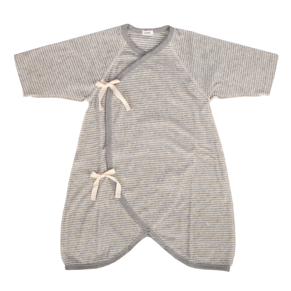 Makie Grey Striped Terry 0-6 Month Hadagi