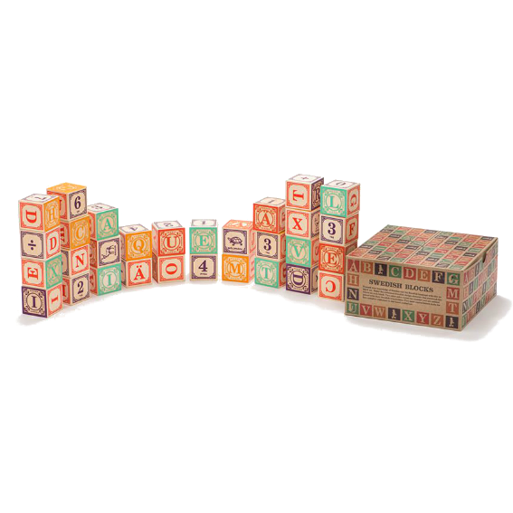 Uncle Goose Swedish Alphabet Blocks