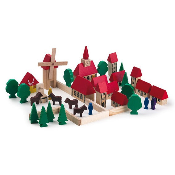 Miniature Wooden Village