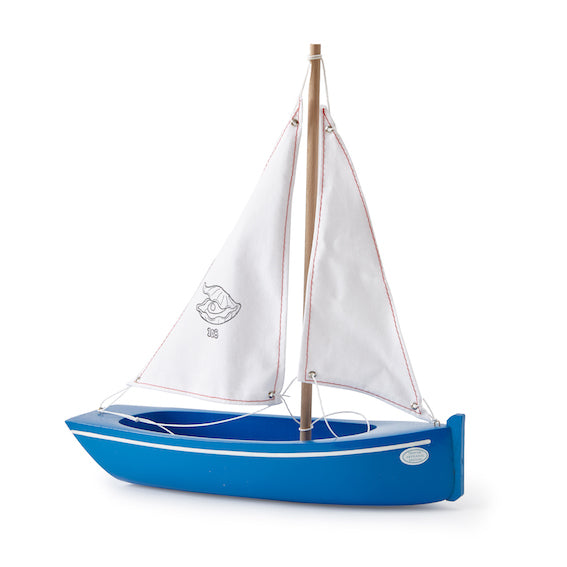 Small Blue Sailboat