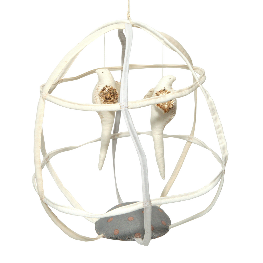 Tamar Mogendorff Ivory Two Bird Birdcage