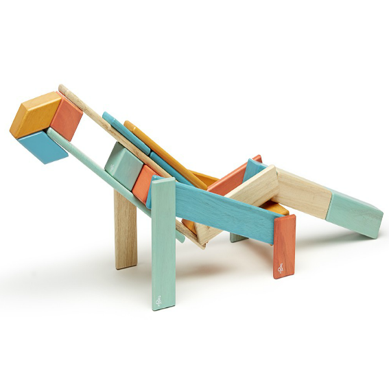 Tegu Sunset Magnetic 24 Piece Block Set