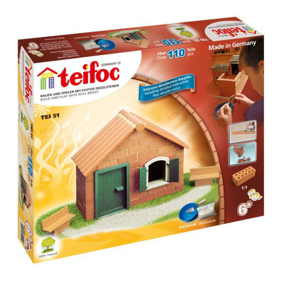 Teifoc Brick House Construction Set
