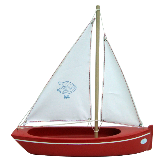 Small Wooden Sailboat