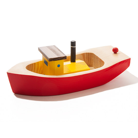 Wooden Red Tugboat