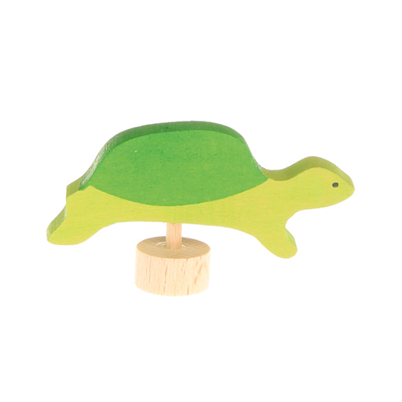 Wooden Turtle Figurine