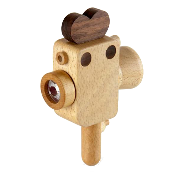 Wooden Super 8 Camera with Kaleidoscope Lens