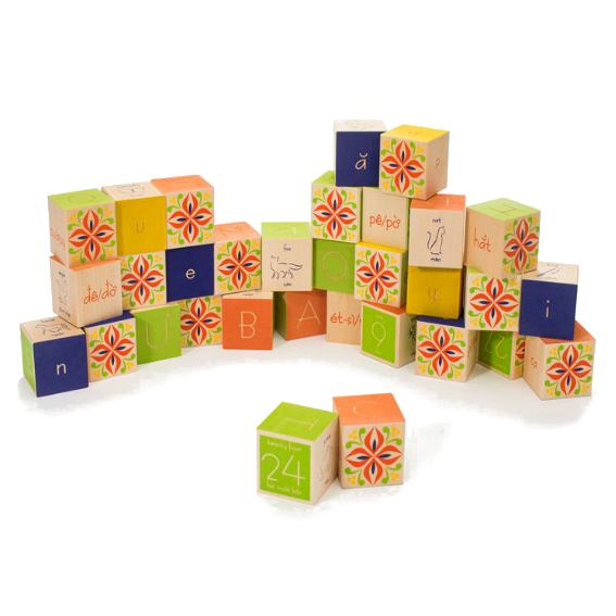 Uncle Goose Vietnamese Alphabet Blocks
