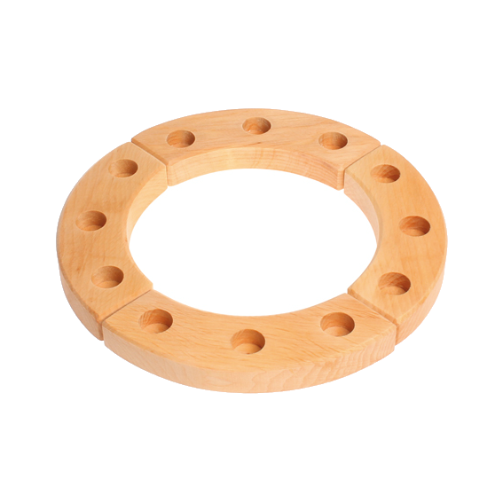 Wooden 12 Hole Celebration Ring
