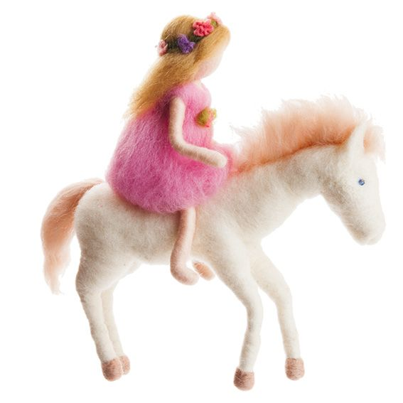 The Girl and Horse Felted Mobile · Blonde
