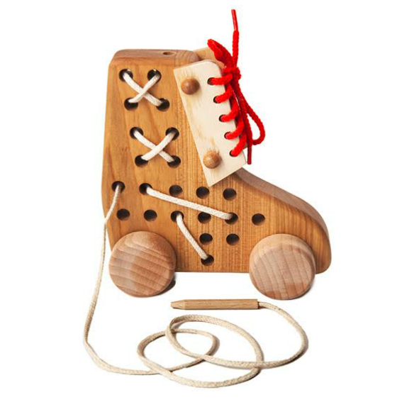 Wooden Lace-up Rollerskate